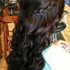 Jednoduché účesy na stužkovú pre dlhé vlasy